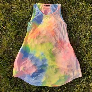 🦄3/$25💝Tie Dye Tank Dress XS - Fits like 4/6